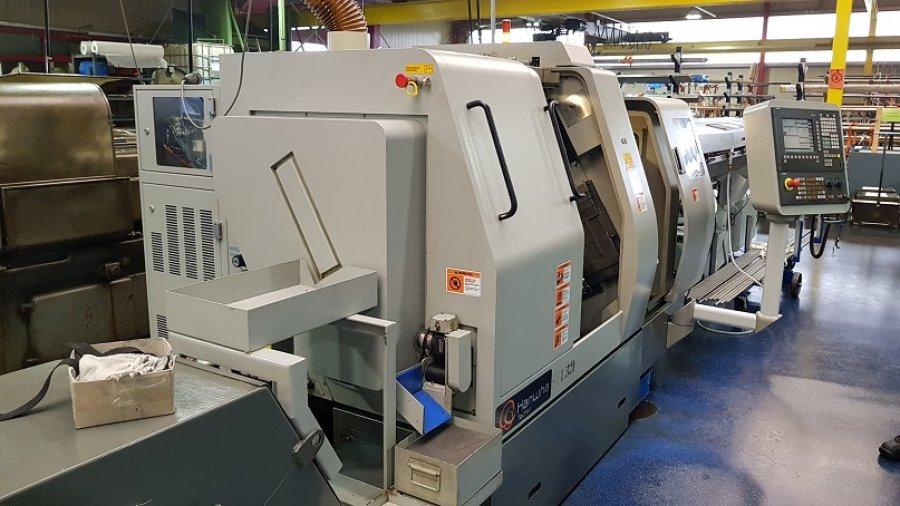 Makinate   2) Used HANWHA STL32H Swiss type lathe M1701978650 1