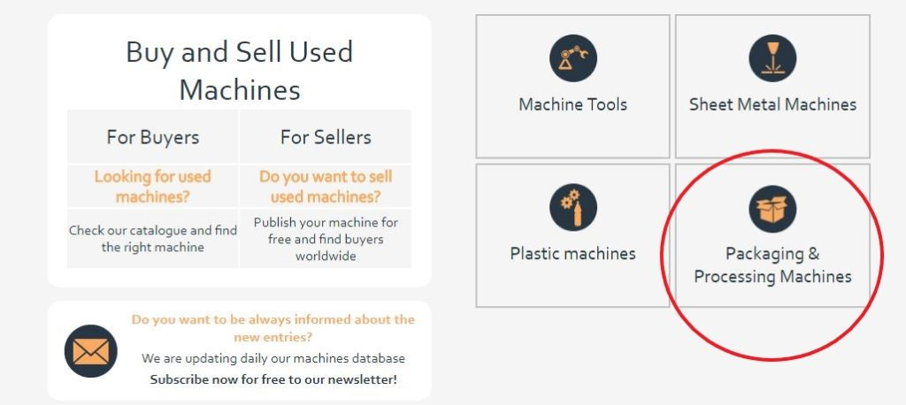 Makinate |Packaging & Processing machines - new category